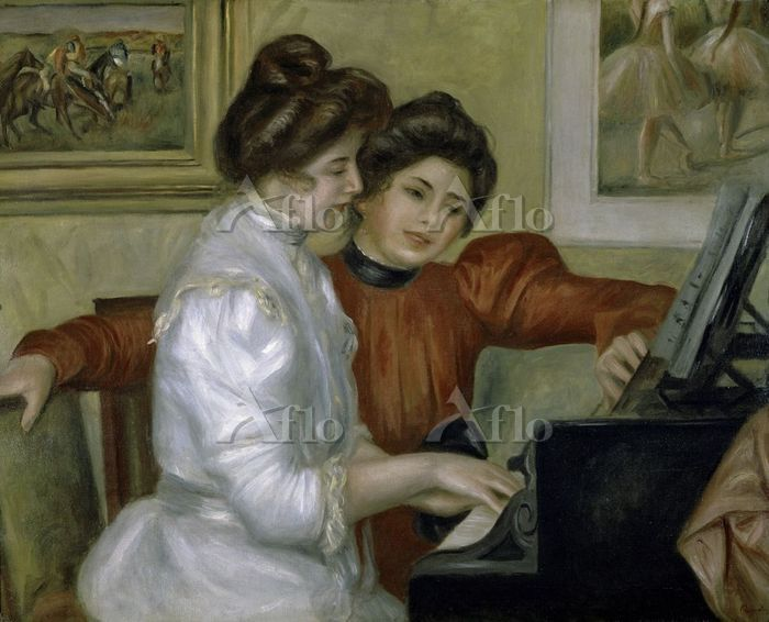 ルノワール  「ピアノに向かうイヴォンヌとクリスティーヌ・ル・・・