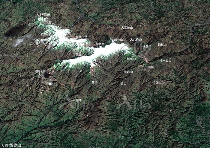 飯豊山とその周辺の山々 日本百名山 東北