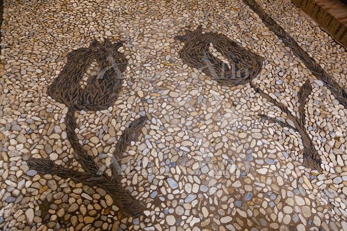 スペイン グラナダ アルハンブラ宮殿 ザクロの装飾