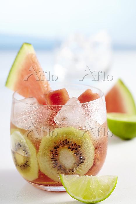 Lime iced tea with watermelon ・・・