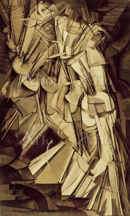 マルセル・デュシャン「階段を降りる裸体 No.2」
