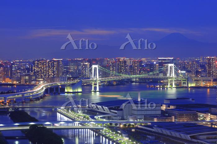 東京都 江東区 富士山 豊洲市場 夜景