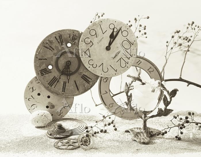 スティルライフ アンティーク時計