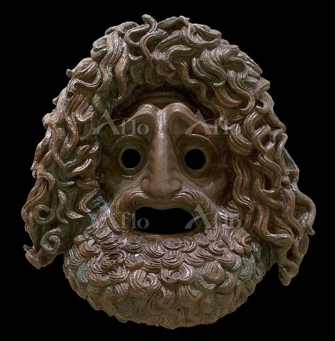Ancient Greek bronze tragic ma・・・