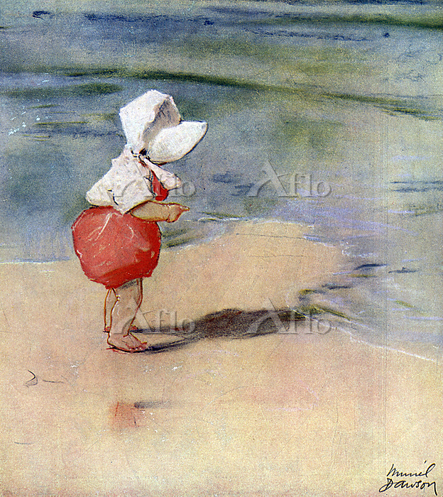 A little girl at the seaside, ・・・