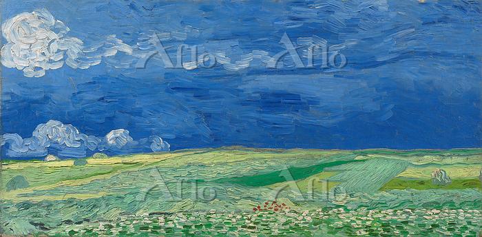 ゴッホ「荒れ模様の空の麦畑」