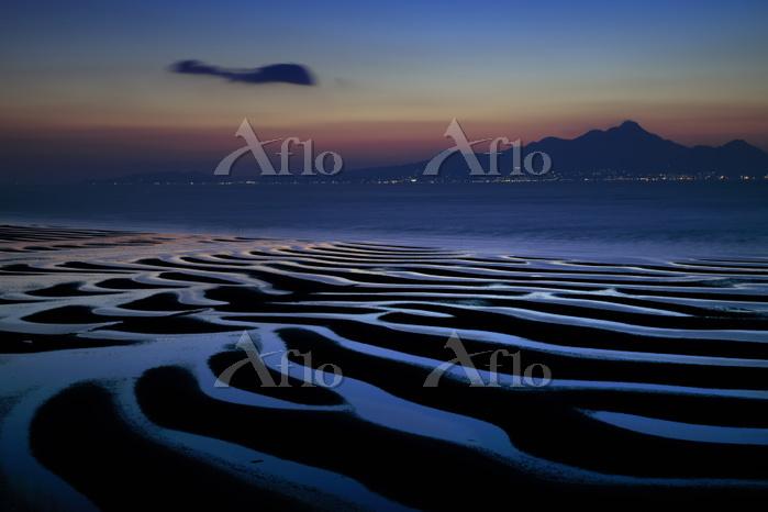 熊本県 御輿来海岸の夕景