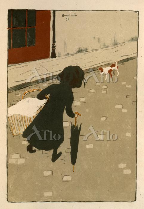 ピエール・ボナール 「洗濯屋の少女」