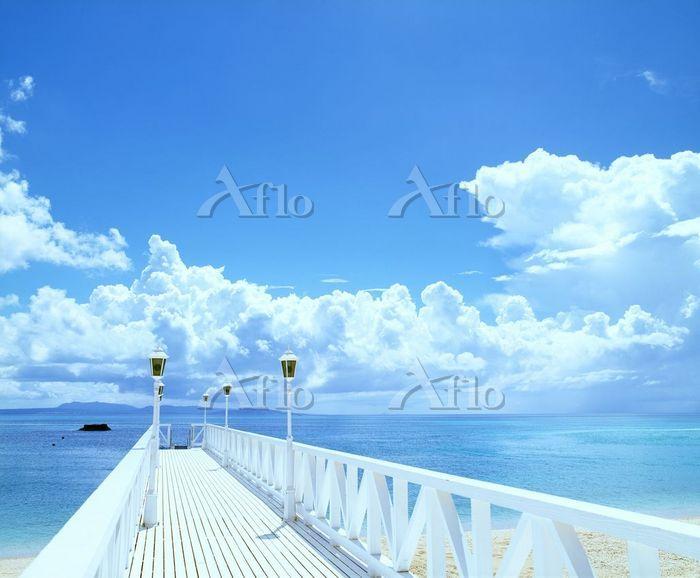 海へ続く橋  オクマビーチ