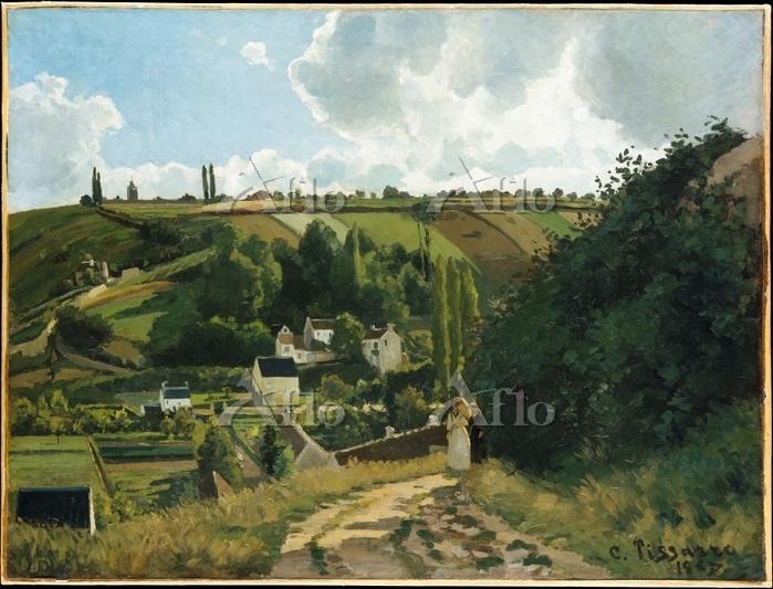 カミーユ・ピサロ「ポントワーズ、ジャレの丘」