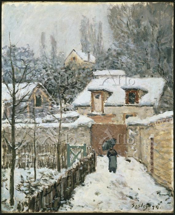 シスレー  「ルーヴシエンヌの雪」