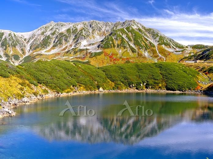富山県 ミクリガ池と立山連峰