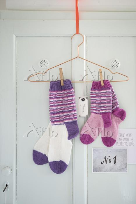 Self-knitted children's socks ・・・