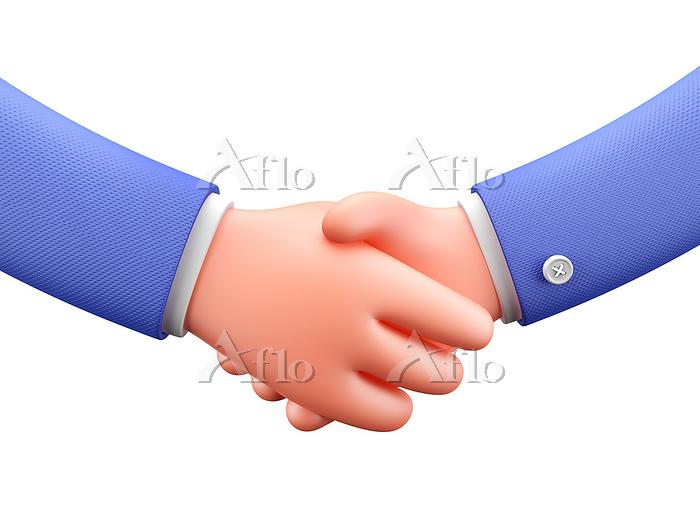 Shaking hands, illustration.