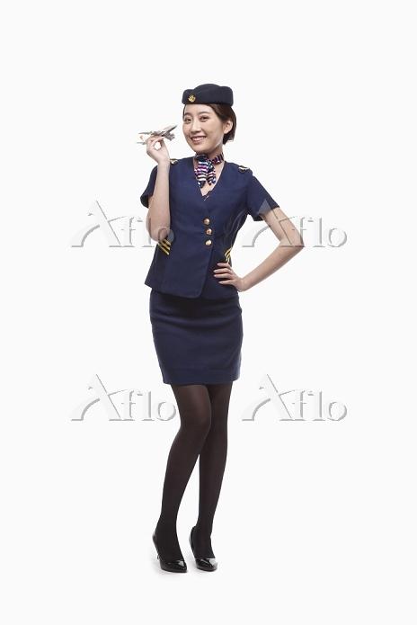 Portrait of Air Stewardess Hol・・・