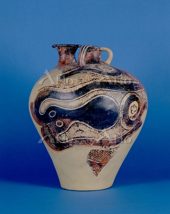 Title:Pottery Jar with Octopus・・・