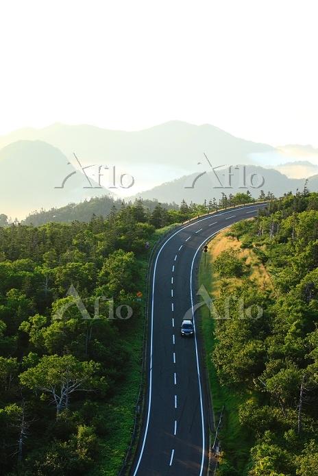 北海道 朝の知床峠