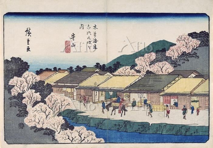 歌川広重 「木曽海道六十九次 守山」