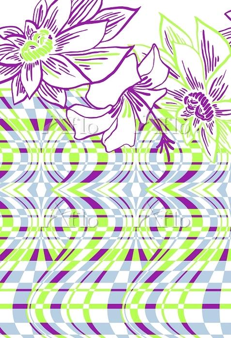 イラスト トロピカルな花