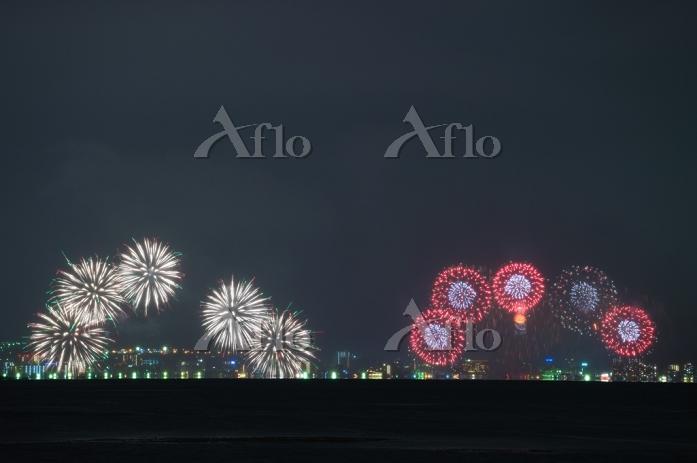 荒天の2014びわ湖大花火大会