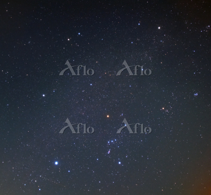 冬の大六角形 2017.01.24 22時44分 神奈川県