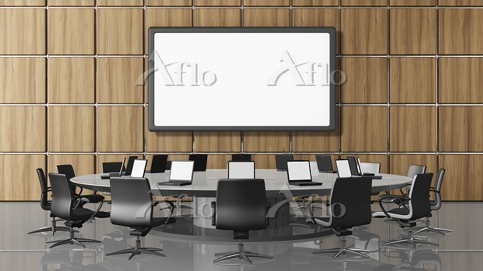 Conference room with projectio・・・