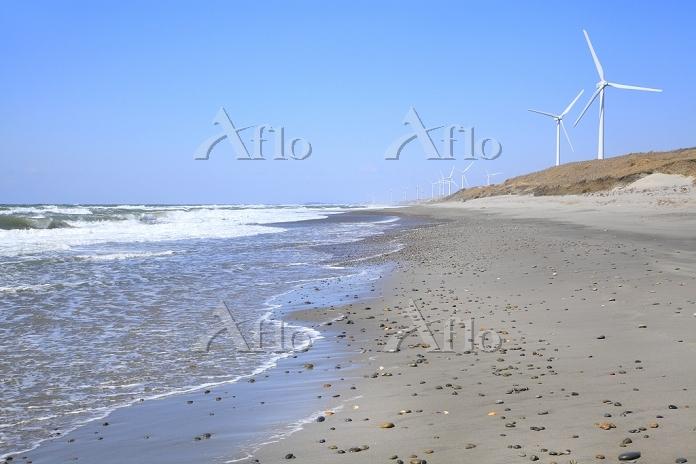 静岡県 浜岡砂丘と風車