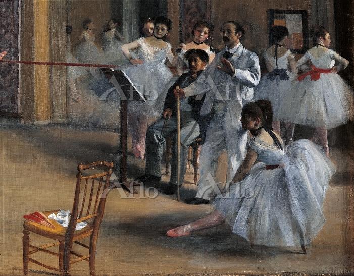 ドガ 「オペラ座の稽古場(ル・ペルティエ街のオペラ座のバレエ・・・