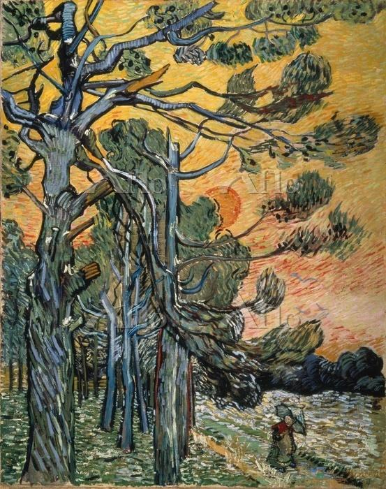 ゴッホ「夕暮れの松の木」