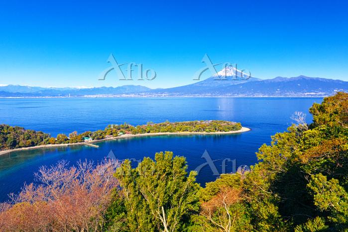 静岡県 大瀬崎から望む富士山
