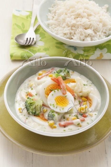 Vegetarian egg and vegetable f・・・