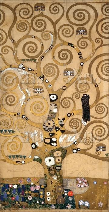 クリムト 「ストックレー・フリーズ-生命の樹の原図」