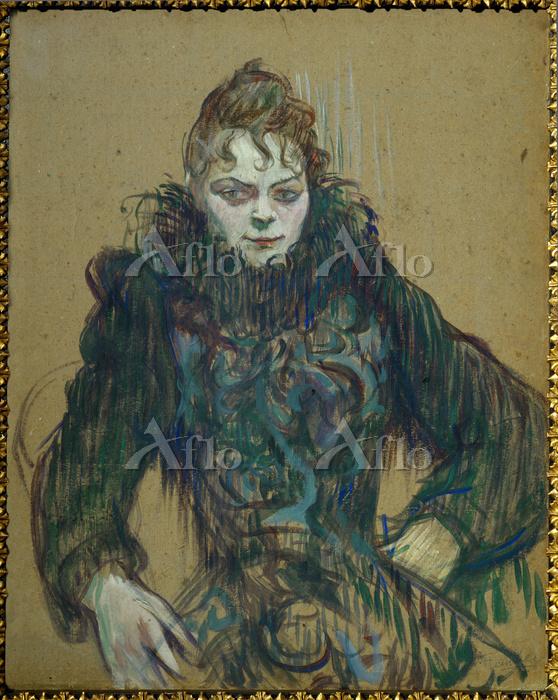 ロートレック 「黒いボアの女」