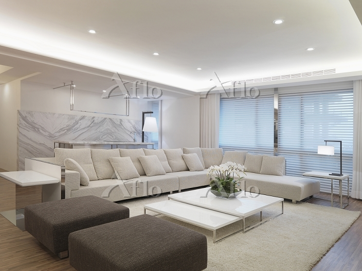 Modern living room with white ・・・