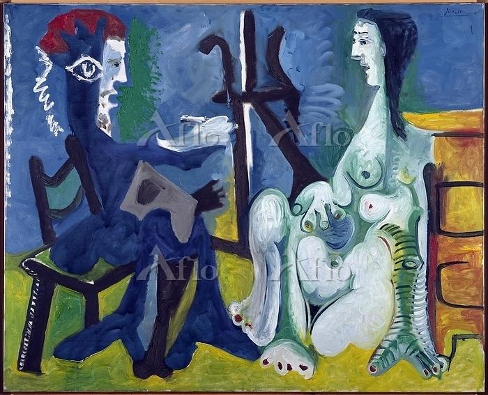 パブロ・ピカソ「画家とモデル」