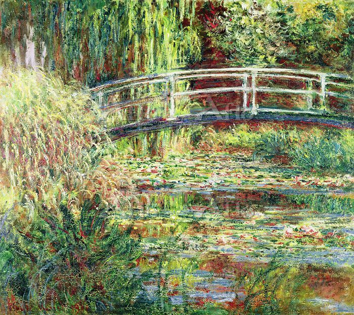 クロード・モネ 「睡蓮の池、バラ色の調和(太鼓橋)」