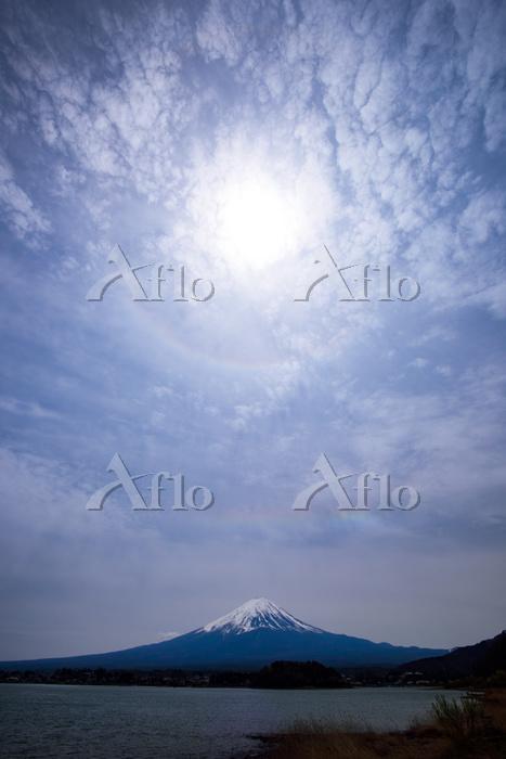 富士山と日暈と環水平アーク