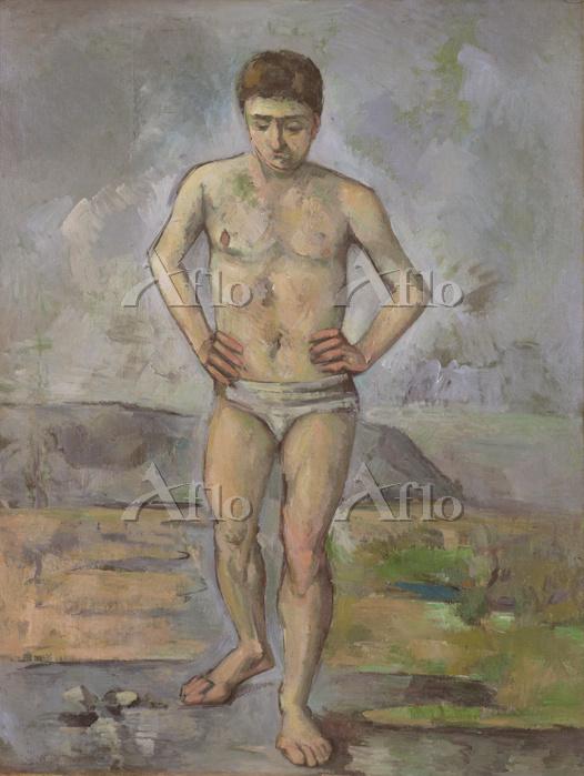 セザンヌ 「水浴の男」