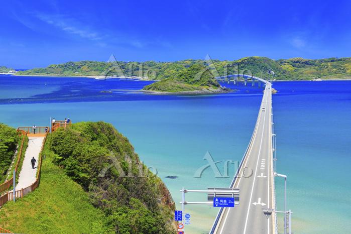 山口県 角島大橋と海士ヶ瀬公園展望台