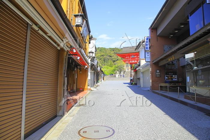 京都府 京都市 緊急事態宣言の中の清水寺の参道
