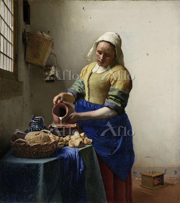 フェルメール 「牛乳を注ぐ女」