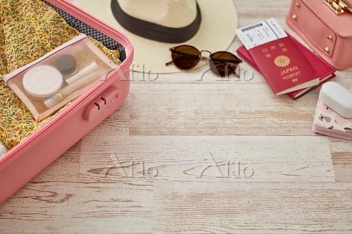 女性の旅行用品