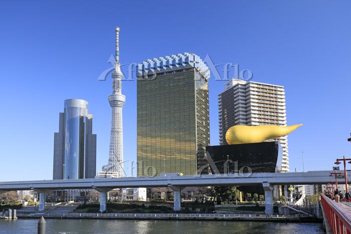 東京都 吾妻橋から隅田川と東京スカイツリー