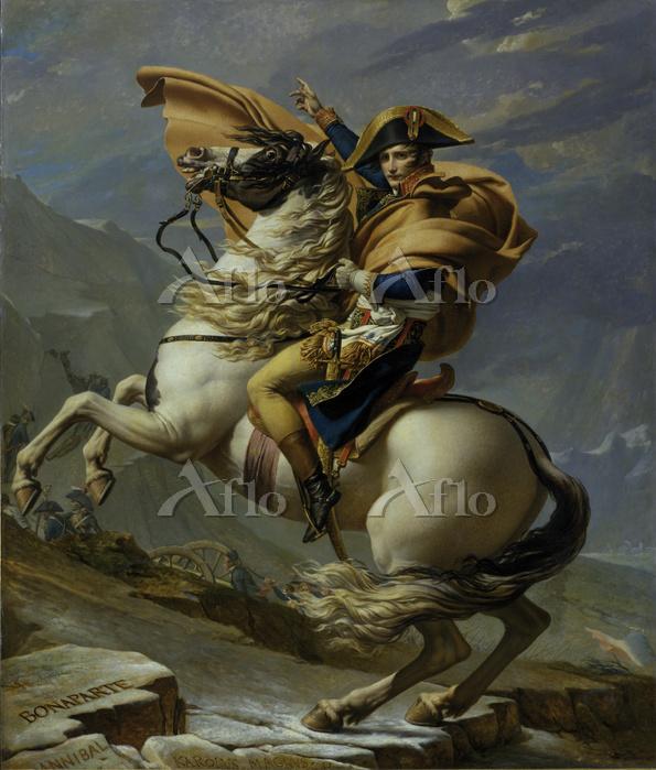ジャック=ルイ・ダヴィッド  「ベルナール峠からアルプスを越・・・