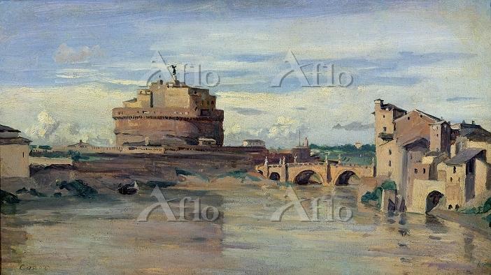 カミーユ・コロー 「ローマのサン・タンジェロ城とテベレ川」