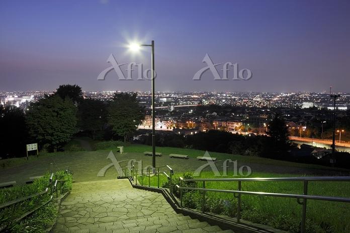 東京都 都立桜ヶ丘公園ゆうひの丘の夜景