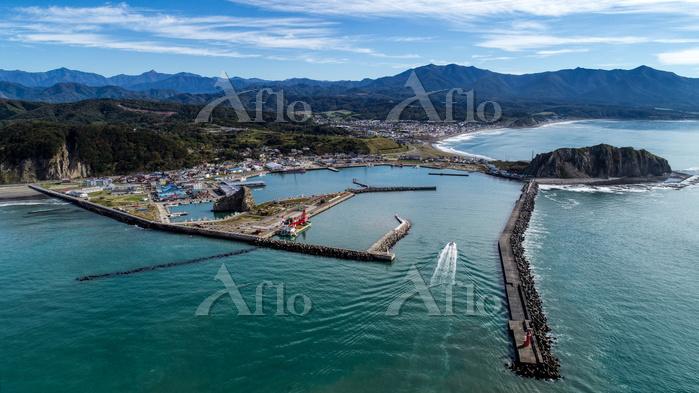 様似町の港