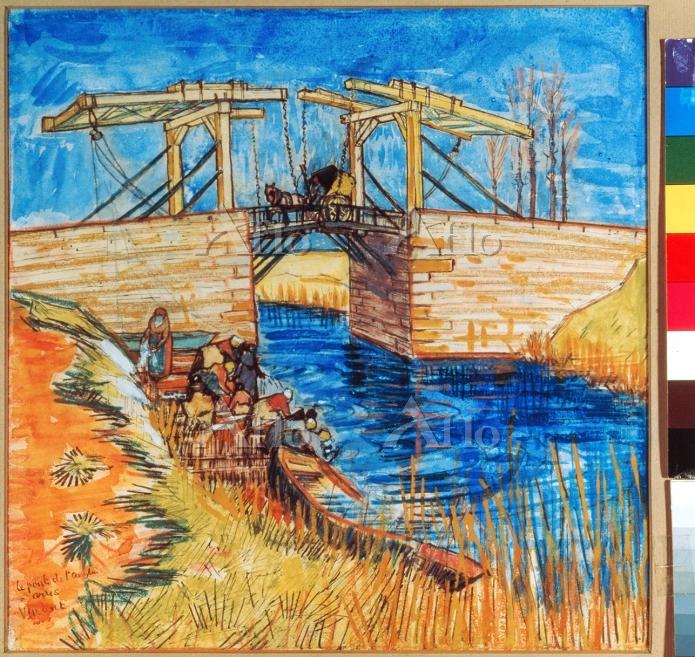 ゴッホ 「アルルの跳ね橋」