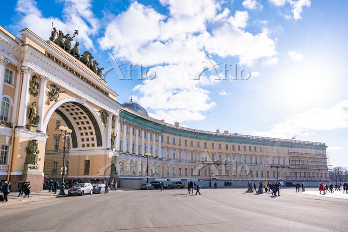 ロシア サンクトペテルブルク 宮殿広場