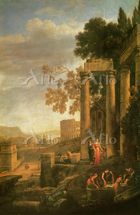 クロード·ロラン 「聖セラピアの埋葬のある風景」